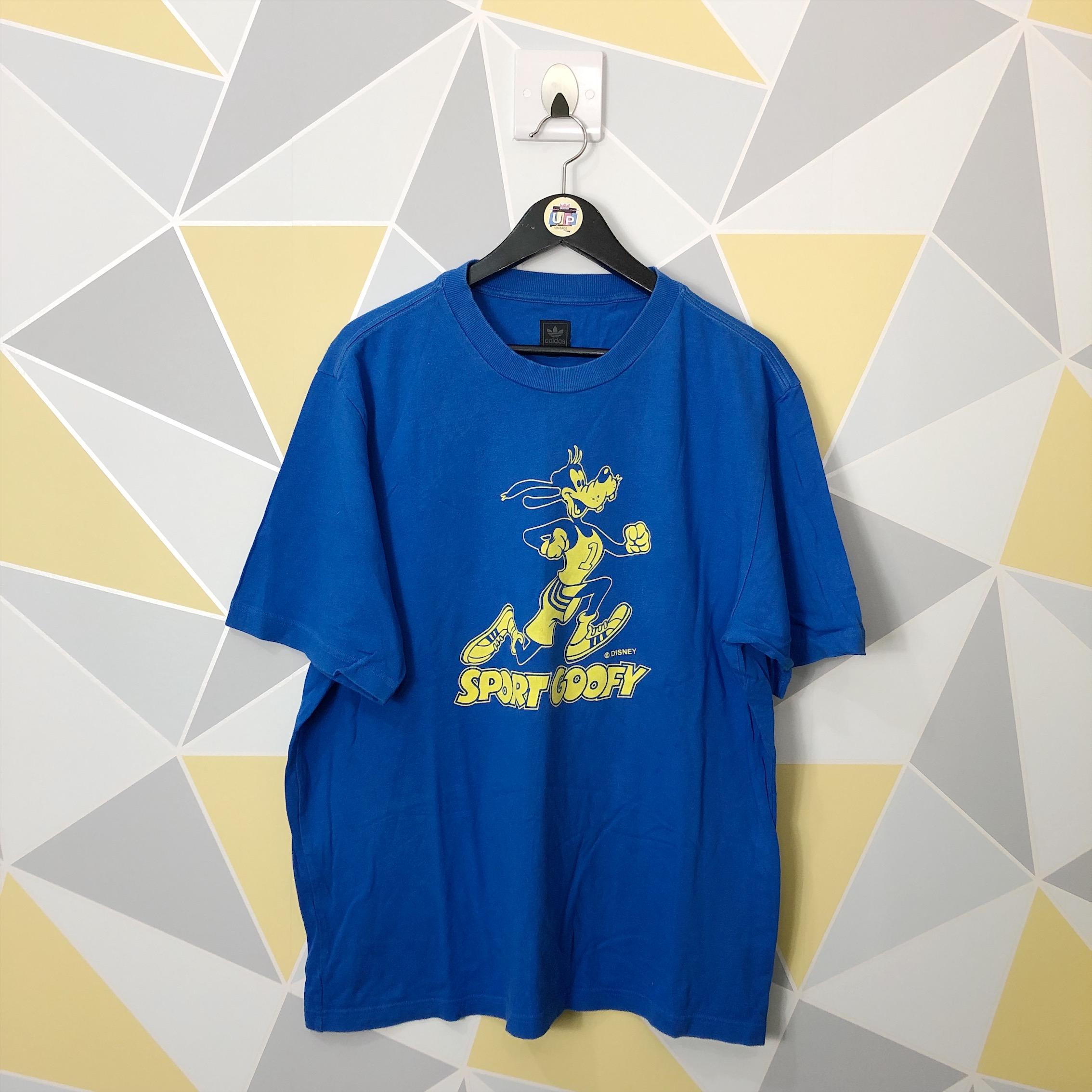 disfrute del envío de cortesía nuevo estilo de 2019 código promocional Vintage Blue x Yellow Goofy Sport Adidas T-Shirt -Bless Up Vintage ...