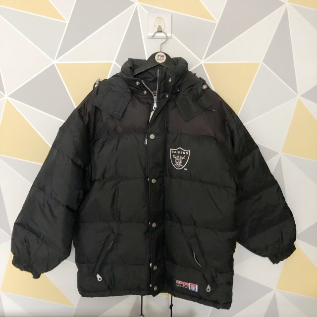 d77a8179 NFL Oakland Raiders Embroidered Chunky Down Puffa